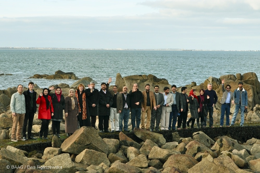Conference delegates relaxing at Dun Laoghaire
