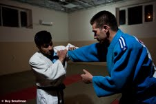 Afghan national judo team in training