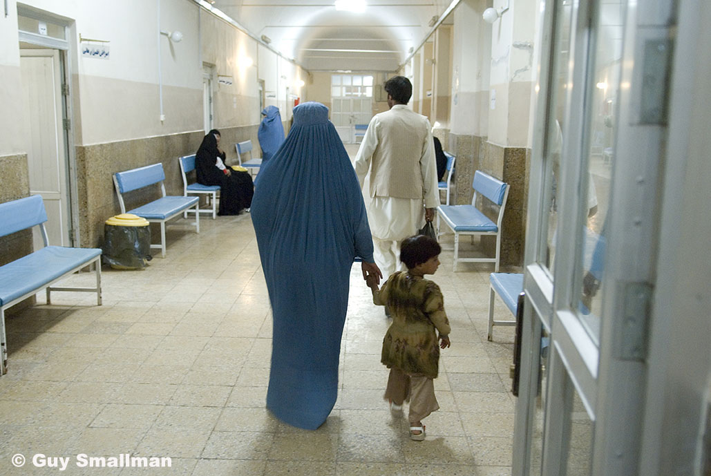 Afghan woman and child in hospital