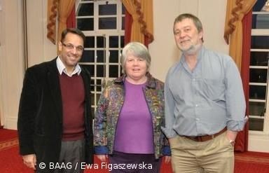 Sue Williams & Fahim Hakim with Ian White