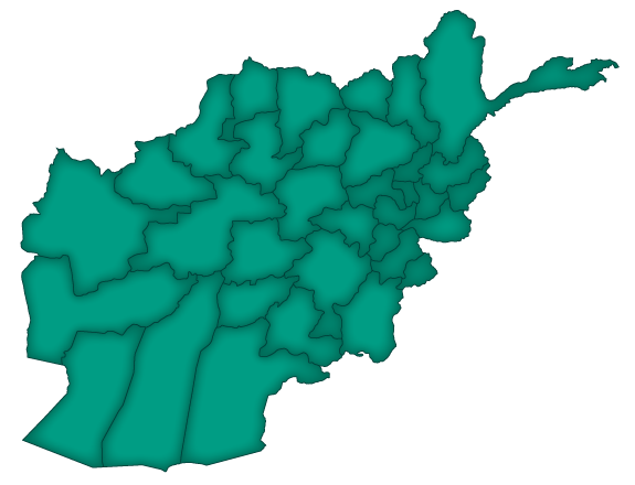Afghanistan provincial map